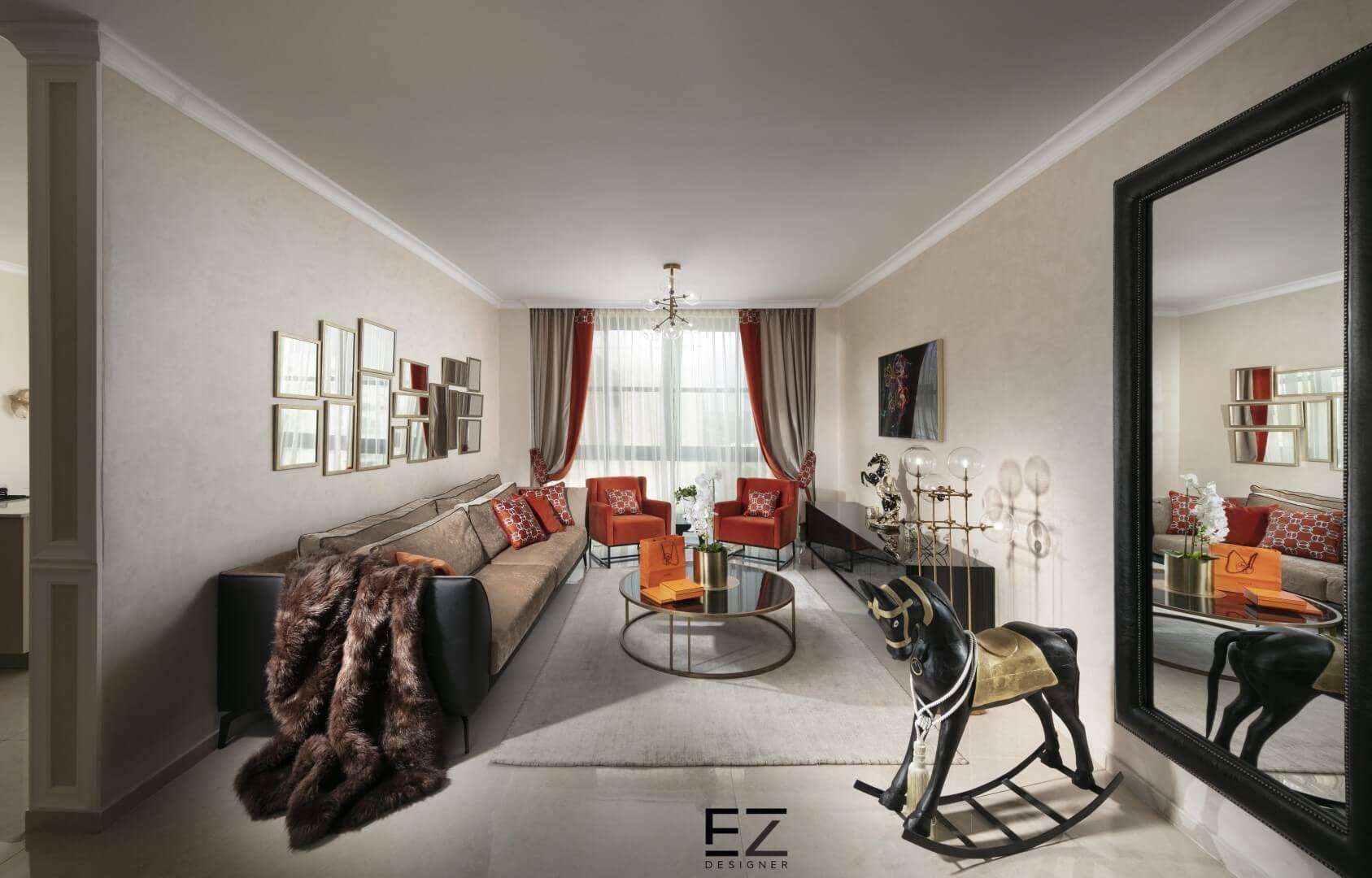 חיפוי קירות לסלון במראה קלאסי